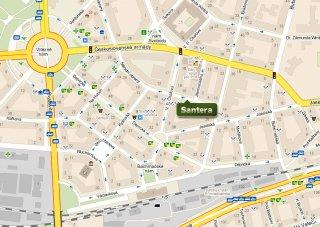 Mapa - jak se k nám dostanete -Santera